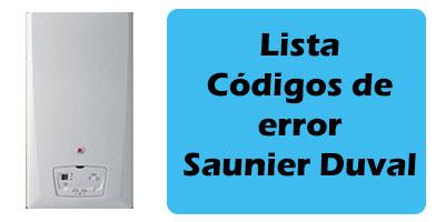 Codigos de error Saunier Duval