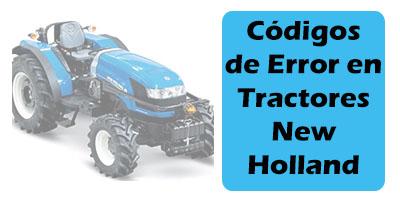 Codigos de Error en Tractores New Holland