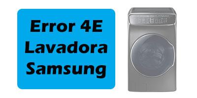Error 4E Lavadora Samsung