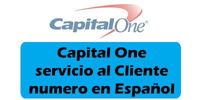 Capital One servicio al Cliente numero en Español