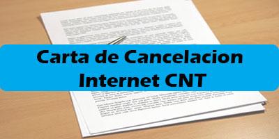 Carta de Cancelacion Internet CNT