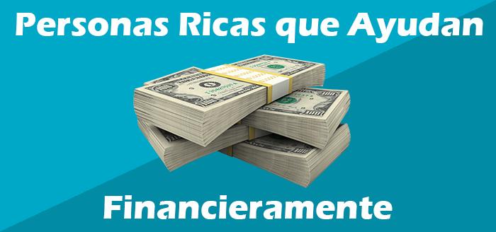 personas ricas que ayudan economicamente
