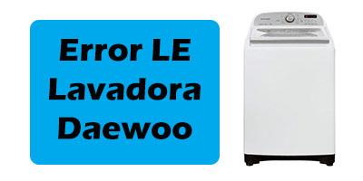 Error LE Lavadora Daewoo