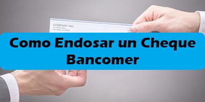 Como Endosar un Cheque Bancomer