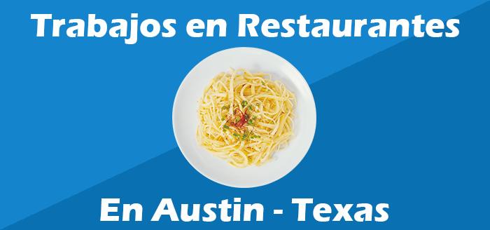 trabajos en restaurantes en austin texas